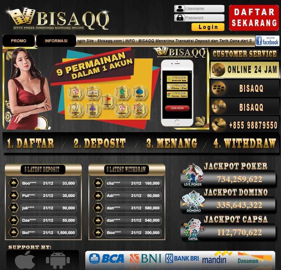 Bisaqq Situs Qq Poker Resmi Judi Online Pkv Games Terpercaya